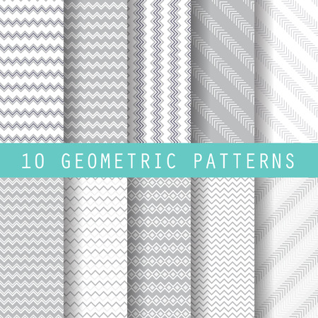 10 different business patterns. Endless texture for wallpaper, fill, web page background, surface texture. Set of  geometric ornament. vector illustration. 向量圖像