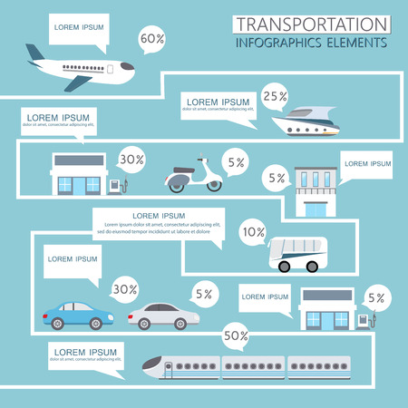 transport icon: transportation infographics element. can be used for workflow layout, diagram, number options, step up options, web design, banner template. Vector illustration