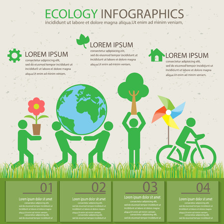 ecology green background and elements. plant and environmental save concept. Can be used for business layout, banner, diagram, web design, info chart, brochure template. vector illustration