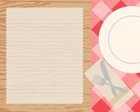 recipe card: cookbook background, Can be used for cooking, bakery and food recipe background, layout, banner, web design, brochure template.  text can be added. Vector illustration
