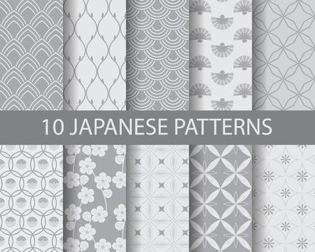 Asian traditionellen nahtlose Muster, Muster Farbfelder, vector, kann Endless Textur für Tapeten, Muster füllt, Web-Seite, Hintergrund, Oberflächen Illustration
