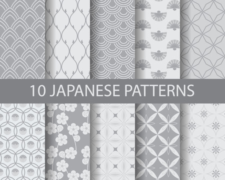 Asian traditional seamless patterns, pattern Swatches, vector, Endless texture can be used for wallpaper, pattern fills, web page,background,surface Vettoriali