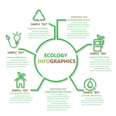 modern business: ecology infographics element. can be used for workflow layout, diagram, number options, step up options, web design, banner template. Vector illustration