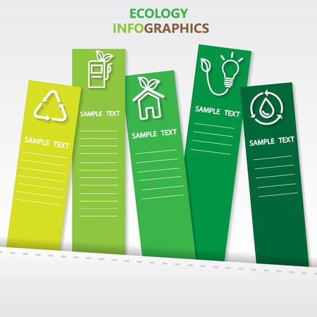 agriculture: ecology infographics element. can be used for workflow layout, diagram, number options, step up options, web design, banner template. Vector illustration