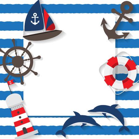 夏のビーチ、旅行、休暇の背景、セーラーのコンセプト、広告、壁紙、グリーティング カードのテキストを追加することができます。