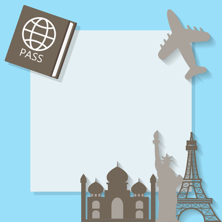 travelling: traveling background with suitcases, text can be added Illustration