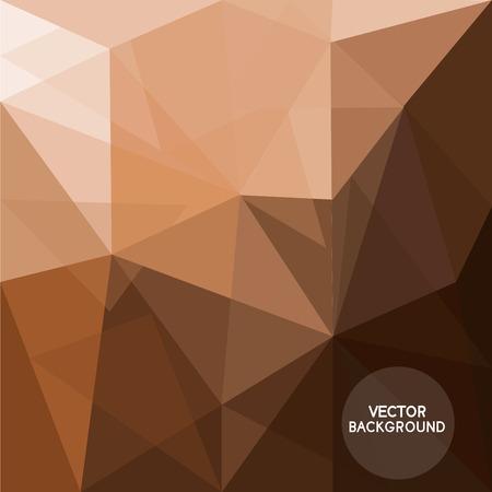abstrakte Kaffee braunem Hintergrund, Low-Poly und Hippie-Design, können Textur für Tapeten, Muster füllt, Web-Seite Hintergrund, Oberflächenstrukturen. Text kann bearbeitet werden, Illustration