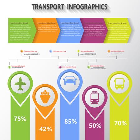 transports: transportation, infographic elements. vector illustration. Illustration