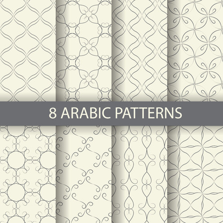hari raya aidilfitri: 8 arabic pattern background, Pattern Swatches, vector, Endless texture can be used for wallpaper, pattern fills, web page,background,surface Illustration