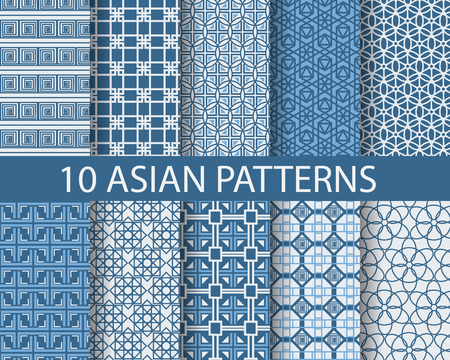 patterns japan: 10 traditional patterns, Endless texture can be used for wallpaper, pattern fills, web page background,surface textures.