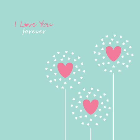 add text: symbol of love on sweet background,greeting card, Flat design Happy Valentines. can be add text. Illustration