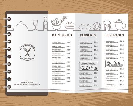 menu de postres: diseño de la comida plantilla de menú