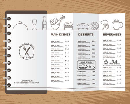 food and beverages: food menu template design