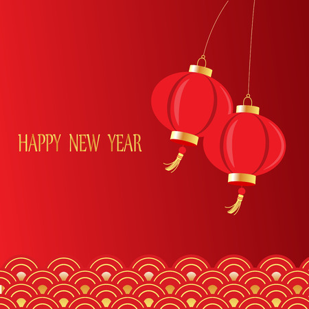chinese new year background, traditional style, can be use for backdrop, background, greeting card Illustration