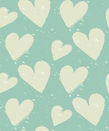 patrón de la vendimia del corazón, diseño del grunge, muestras de motivos, vector, textura fin se puede utilizar para fondos de escritorio, patrones de relleno, página web, fondo, superficie