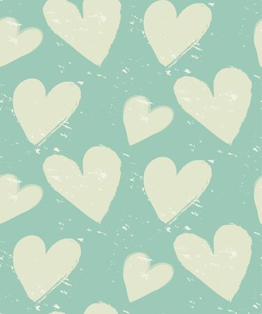 love hearts: vintage Heart pattern, grunge design,  Pattern Swatches, vector, Endless texture can be used for wallpaper, pattern fills, web page,background,surface