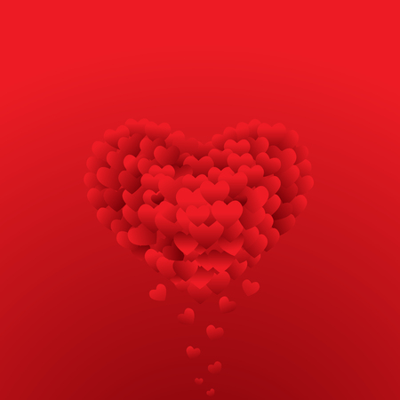heart background: heart background, valentines day celebration, can be use for backdrop and greeting card Illustration