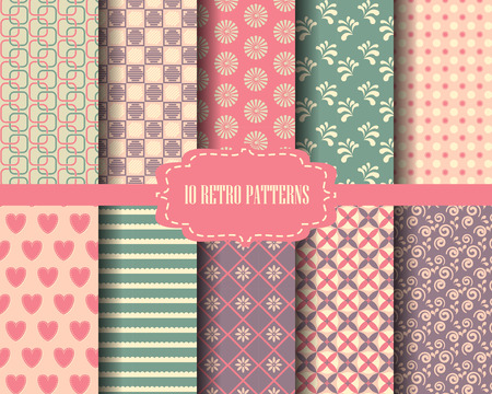 pattern vintage: vintage pattern set, can be use for wallpaper and background Illustration