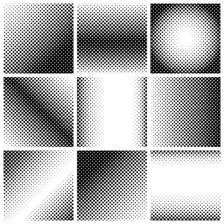 black dots: halftone dots. Black dots on white background, vector, illustration Illustration