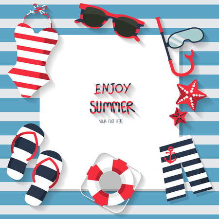 summer vacation background, sailor concept, text can be add for advertising, wallpaper, greeting card