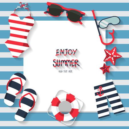 maillot de bain: vacances d'été fond, concept de marin, le texte peut être ajouter de la publicité, papier peint, carte de voeux