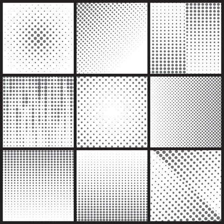 halftone dots: Black dot halftone background can be use for pattern, backdrop, wallpaper, surface. Illustration