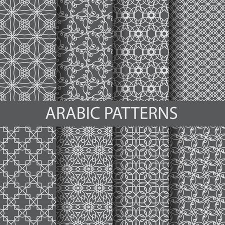 8 arabische Muster, Muster Farbfelder, vector, kann Endless Textur für Tapeten, Muster füllt, Web-Seite, Hintergrund, Oberflächen-