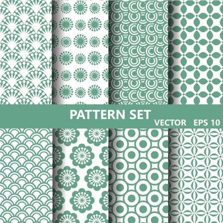 in a row: pattern set,Endless texture can be used for wallpaper, pattern fills, web page background,surface textures. Stock Photo