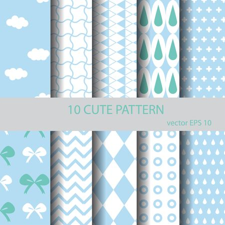catoon: sweet and cute pattern set,Endless texture can be used for wallpaper, pattern fills, web page background,surface textures.