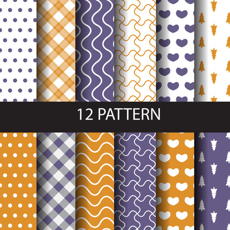 sur: 10 different vector seamless patterns. Endless texture can be used for wallpaper, pattern fills, web page,background,sur face Illustration