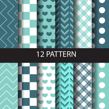 scot: patterns set. Endless texture can be used for wallpaper, pattern fills, web page background,surface textures.