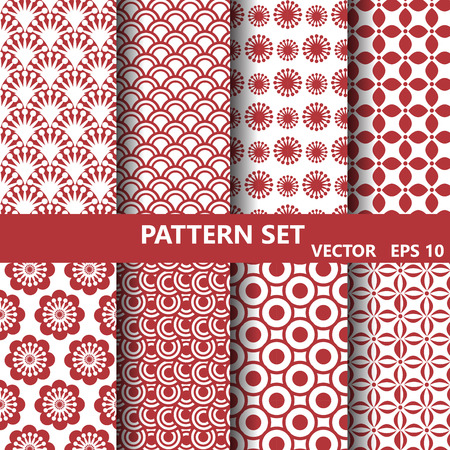 pattern set,Endless texture can be used for wallpaper, pattern fills, web page background,surface textures. Illustration