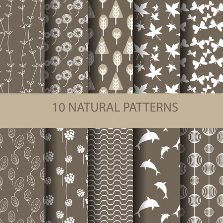 stripes pattern: set of different vector patterns natural concept. Endless texture can be used for wallpaper, pattern fills, web page background,surface textures. Illustration