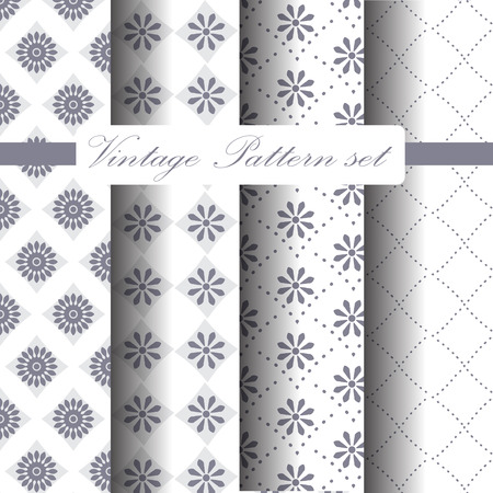 different vintage and classic patterns set. Endless texture can be used for wallpaper, pattern fills, web page,background,surface