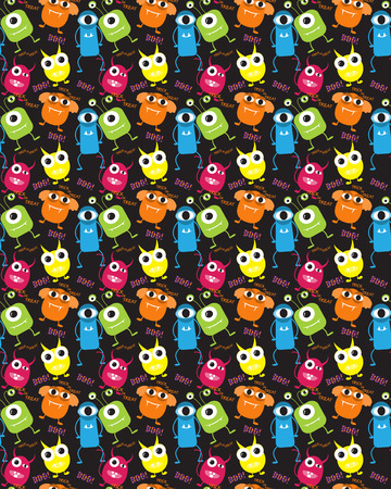 sur: devil and mosster  halloween  patterns. Endless texture can be used for wallpaper, pattern fills, web page,background,sur face