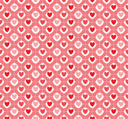 heart seamless pattern: vintage heart seamless pattern, vector