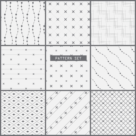 9 different patterns.  Modern stylish texture.  can be used for wallpaper, pattern fills, web page background