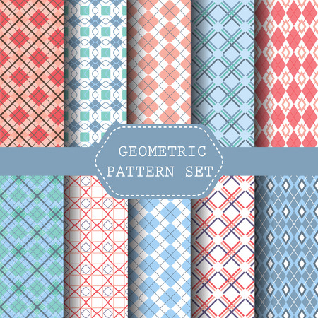 scot: 9 simple sweet pastel patterns, Endless texture can be used for wallpaper, pattern fills, web page,background,surface