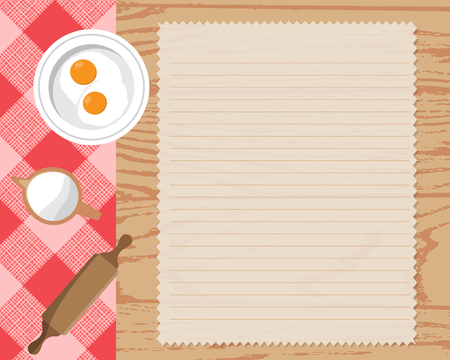 cooking book: Cookbook background, can be used for cooking, bakery and food recipe background, layout, banner, web design, brochure template. Text can be added. Vector illustration Illustration
