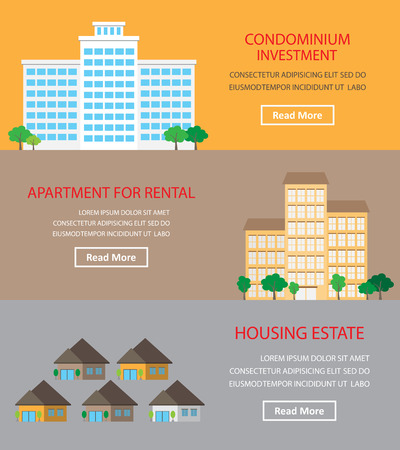 real estate investment: Real estate investment infographics element and banner background. Building and house. Can be used for business data, web design, brochure template.