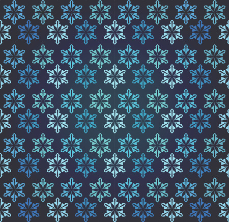retro wallpaper: Blue and black snow flakes patterns. Vintage and retro design. Endless texture can be used for wallpaper, pattern fills, web page, background, surface. Vector illustration