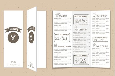 Restaurant, Bistro und Café-Menü, Infografiken und Hintergrundelemente einfaches Design. Kann für das Layout, Banner, Web-Design, Broschüre Vorlage verwendet werden. Vektor-Illustration