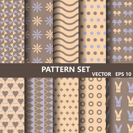 catoon: Wave vector patterns set. Endless texture can be used for wallpaper, pattern fills, web page background,surface textures. Illustration