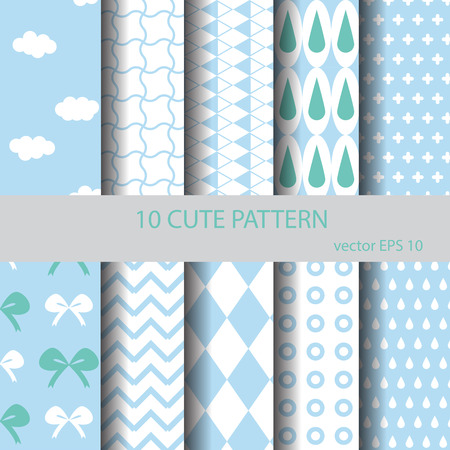 cute background: Sweet and cute pattern set, endless texture can be used for wallpaper, pattern fills, web page background, surface textures.