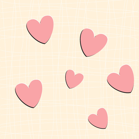sweet heart: Sweet and simple pink heart seamless pattern, vector, endless texture can be used for wallpaper, pattern fills, web page, background, surface