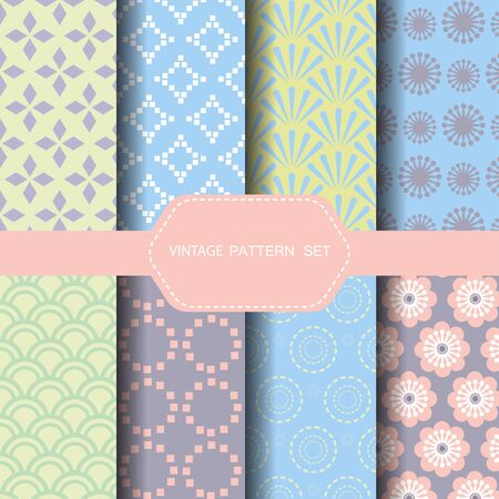 fabric pattern: Vintage pattern set, endless texture can be used for wallpaper, pattern fills, web page background, surface textures.