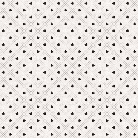 Mono heart seamless pattern vector. Endless texture can be used for wallpaper, pattern fills, web page,background,surface