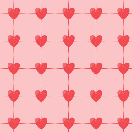 heart background: Vintage grunge  heart seamless pattern vector. Endless texture can be used for wallpaper, pattern fills, web page, background, surface
