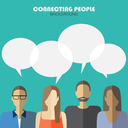 communicatie achtergrond, het verbinden van mensen Vector Illustratie
