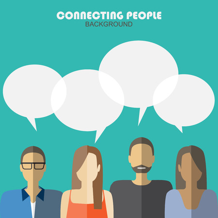 Kommunikation Hintergrund, verbindet Menschen